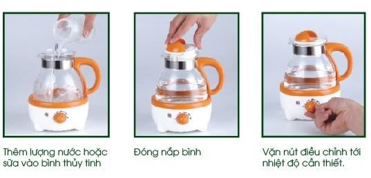 Hướng dẫn sử dụng Máy hâm nước pha sữa 600ml Fatzbaby Fb3006SL