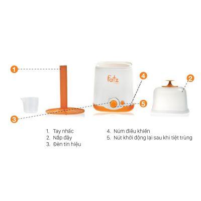 Chi tiết các bộ phậm của máy hâm sữa 2 chức năng thế hệ mới