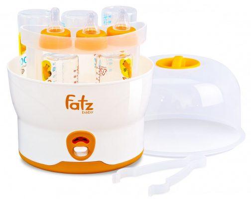 Máy tiệt trùng bình sữa siêu tốc 6 bình Fatzbaby FB4019SL có thể tiệt trùng 6 bình cùng 1 lúc
