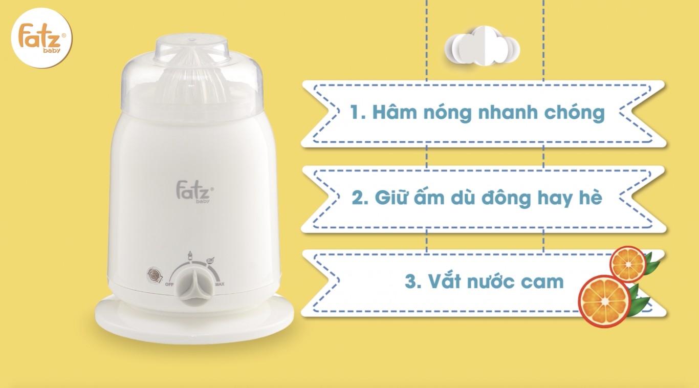 3 chức năng của máy hâm sữa
